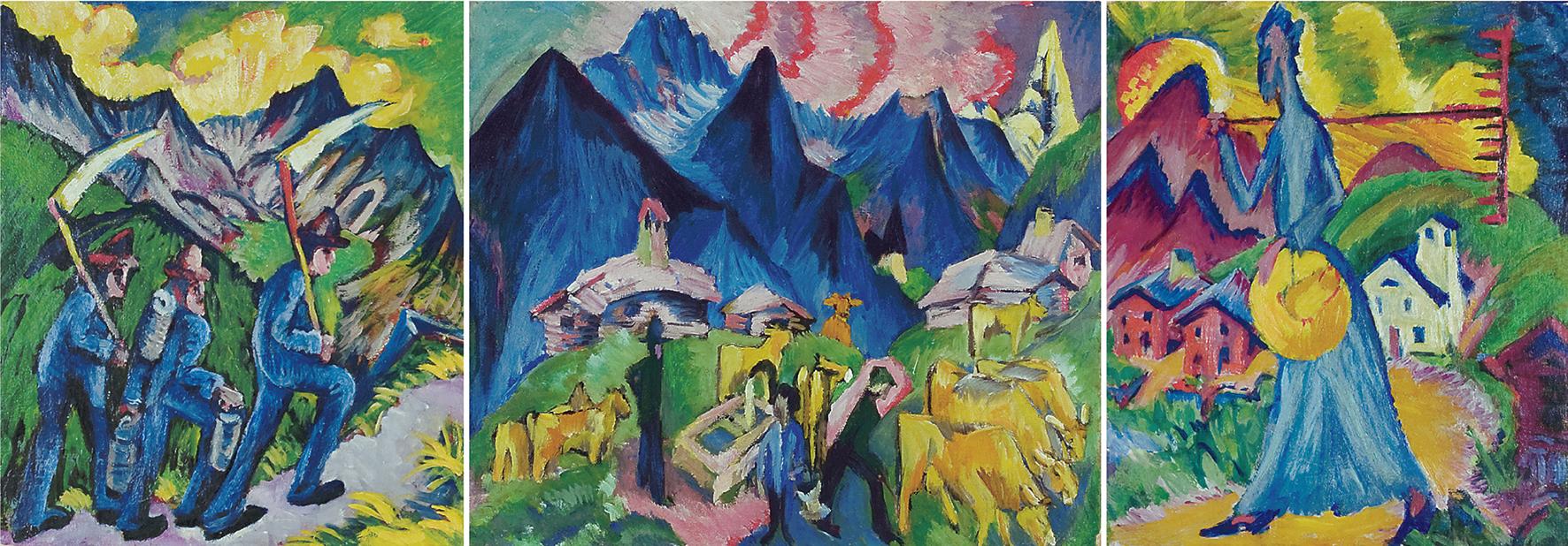 Alpleben (Triptychon), 1917 – 1919Gesamtansicht – nicht für de